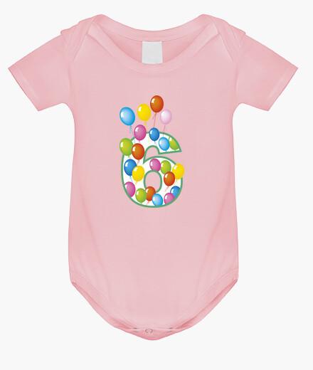Abbigliamento bambino Sesto compleanno numero 6 anni pallonci