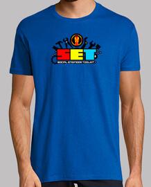 SET. Social Engineer tool. camiseta verde chico.