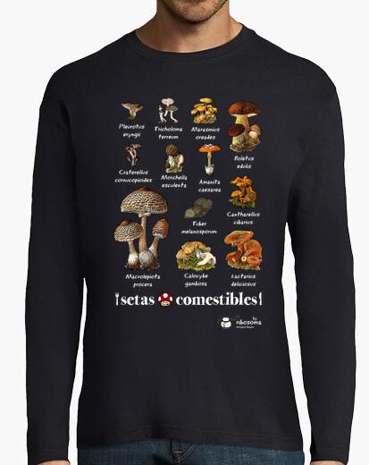 Camiseta Setas comestibles (fondos oscuros)