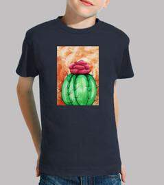 sfondo arancione di cactus