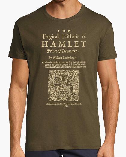 Shakespeare, hamlet 1603 dark clothes t-shirt