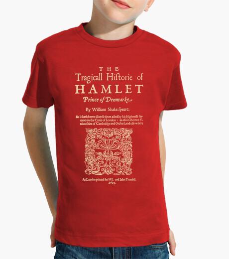 Ropa infantil Shakespeare, Hamlet 1603 (dark T)