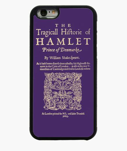Funda iPhone 6 / 6S Shakespeare, Hamlet 1603 (dark T)