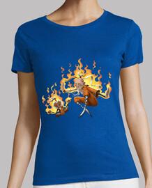 shaolin monk - t-shirt da donna