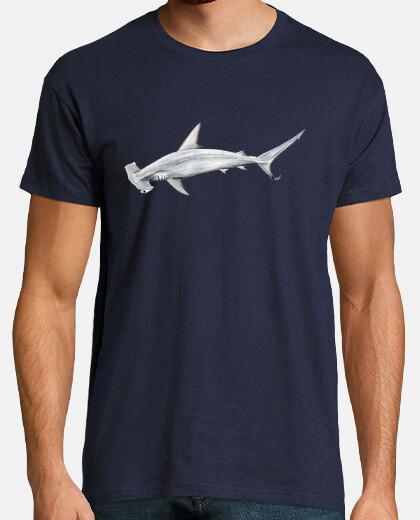 shark hammer man t-shirt