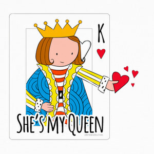 She is my queen. Color. T-shirts
