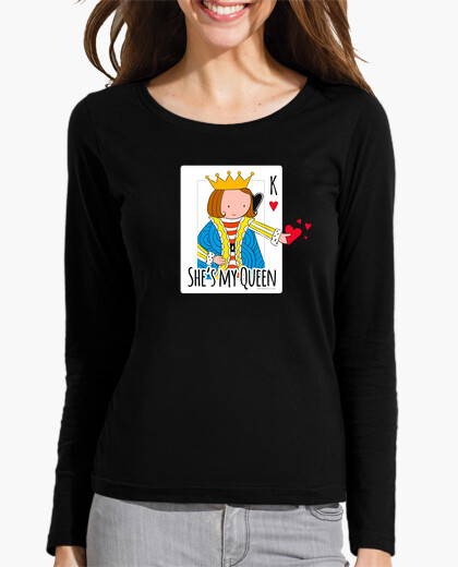 She is my queen color t-shirt