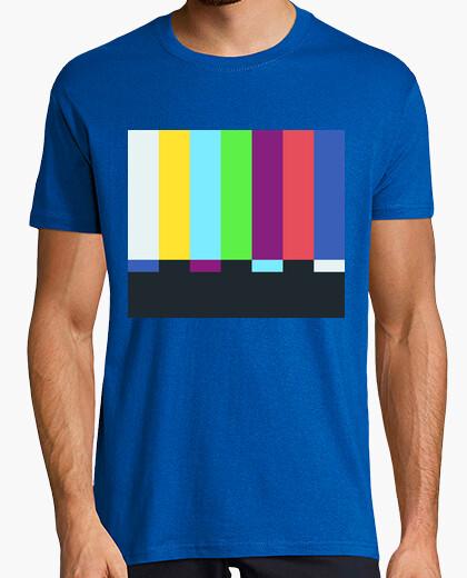 Tee-shirt sheldon cooper - barres de couleur tv