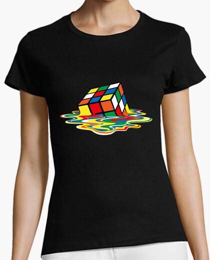 Camiseta Sheldon Cooper - cubo Rubik derretido