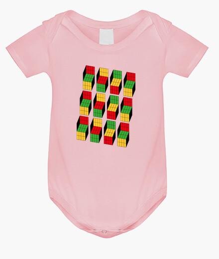 Abbigliamento bambino sheldon cooper - illusione ottica cubo rub