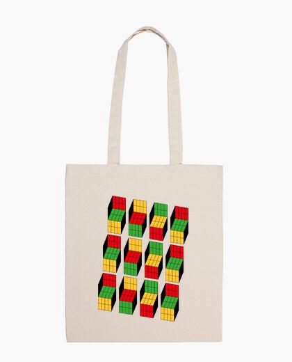 Bolsa Sheldon Cooper - Ilusión óptica cubo Rubik