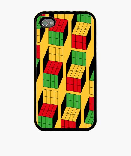 Funda iPhone Sheldon Cooper - Ilusión óptica cubo Rubik