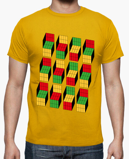 Tee-shirt sheldon cooper - rubik cube illusion d'optique
