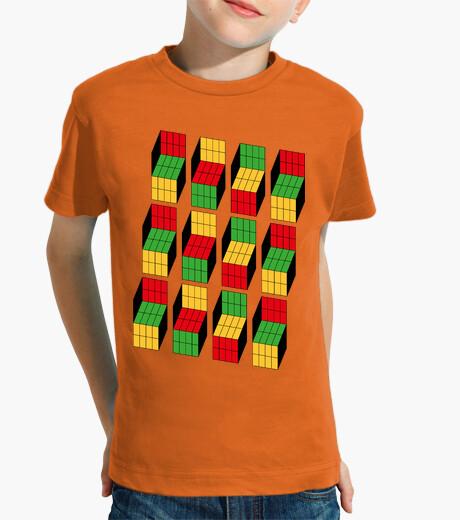 Vêtements enfant sheldon cooper - rubik cube illusion d'optique