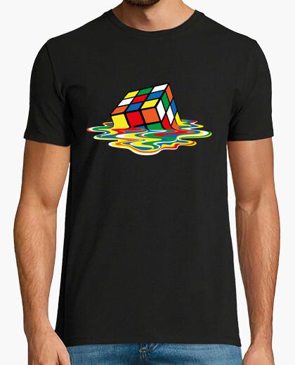 0ad97a6834e8 sheldon cooper - rubik cube melted T-shirt - 1070591
