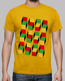 sheldon cooper - rubik cube optical illusion