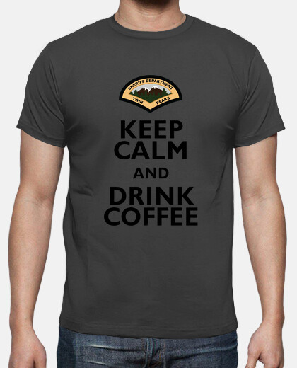 Camisetas Sheriff Twin Peaks - Drink Coffee