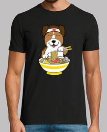 Shetl chien and chien de berger manger