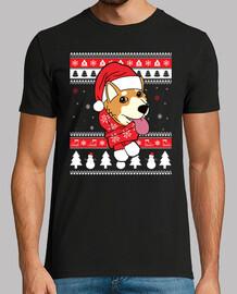 shiba inu christmas dog