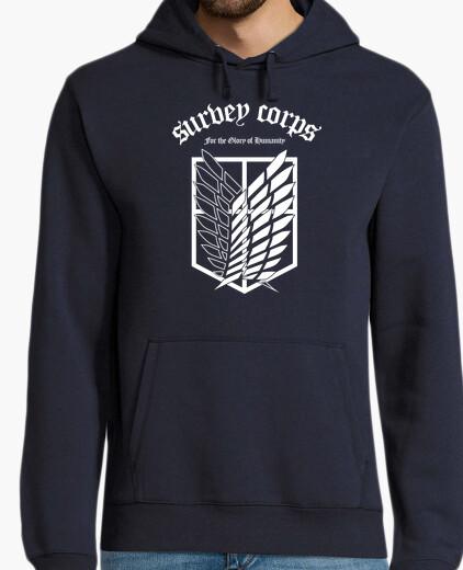 Felpa shingeki corps sondaggio - bianco