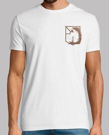 Shingeki la police militaire - brodé logos avant et arrière