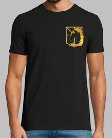 Shingeki military police - gold, logos front and back