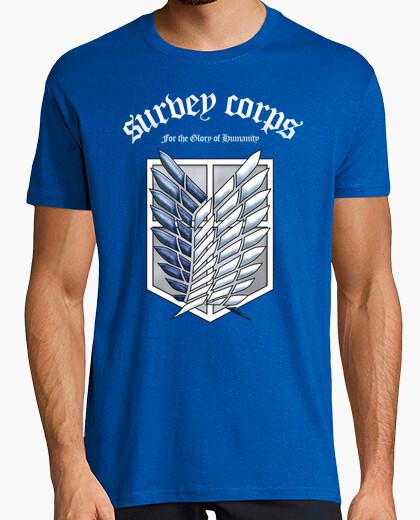 T-shirt shingeki no corps sondaggio kyojin - bianco /