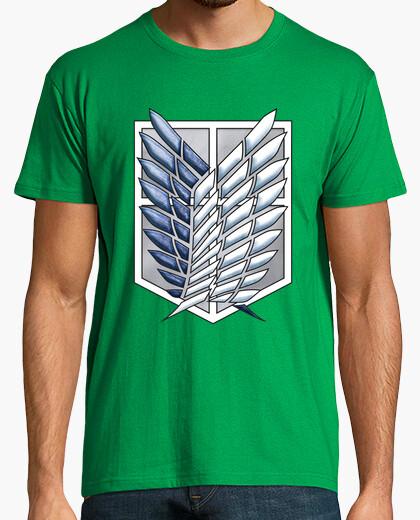 T-shirt shingeki scouting sondaggio corps legione