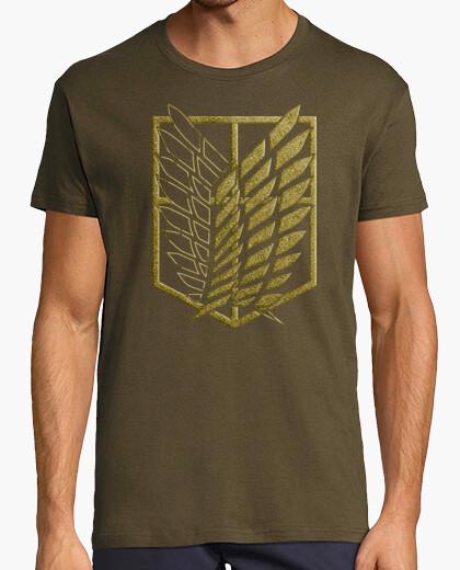 T-shirt shingeki sondaggio corps - effetto ricamo