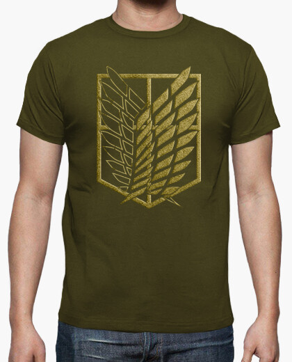 Shingeki survey corps - embroidery effect t-shirt