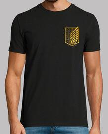 Shingeki survey corps - gold, logos front and back