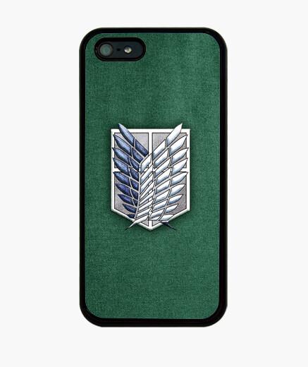 Funda iPhone Shingeki Survey Corps Textura Tela - Carcasa