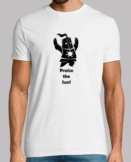 shirt - dark souls - solaire gentleman - louer le soleil - noir