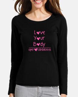 shirt à manches longues aimer votre corps