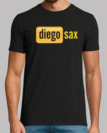 shirt black diegosax, manches courtes, qualité extra