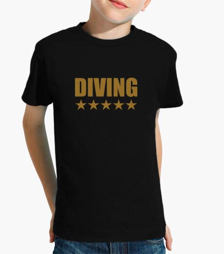 Shirt child diving, short sleeve, black children's clothes