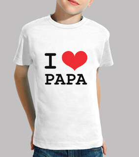 shirt child: i love daddy