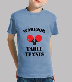 shirt child table tennis, short sleeve, heavenly