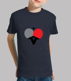 shirt child table tennis, short sleeve, navy blue