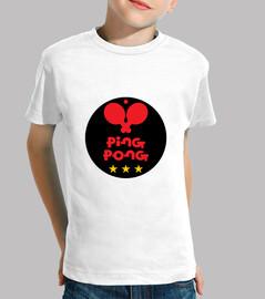 shirt child table tennis, short sleeve, white