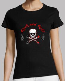 shirt de  femme  de roche and la musique du rouleau