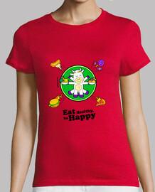 shirt de  femme  eath santé, être heureux