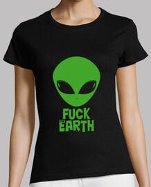 shirt de  femme  fuck la terre