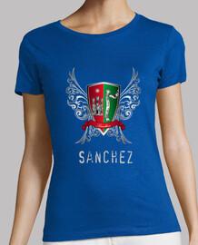 shirt de bouclier sexy nom sanchez