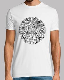 shirt de cercle de mandalas, homme