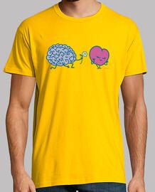 shirt de cerveau de coeur