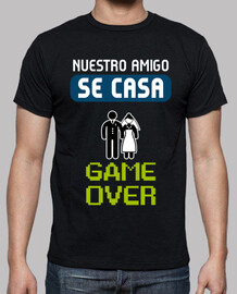 shirt de enterrement de vie de garçon game over
