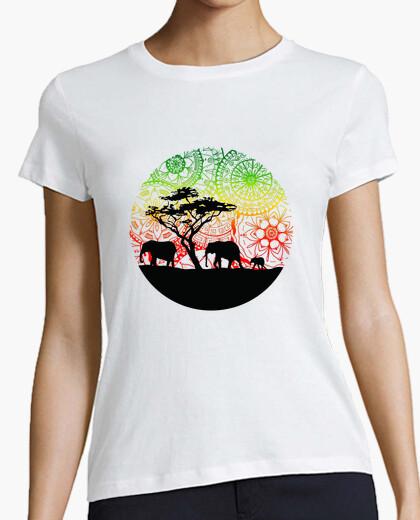 Tee-shirt shirt de famille d'éléphants, femme