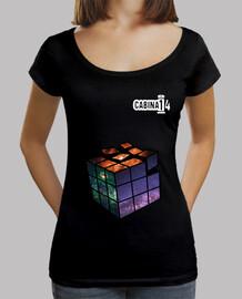 shirt de fille - magique cube univers avec logo