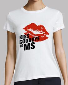 shirt de fille baiser au revoir à ms